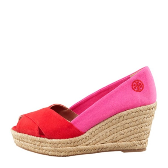 72658d90a Tory Burch Shoes | Filipa Colorblock Espadrille Redpink | Poshmark
